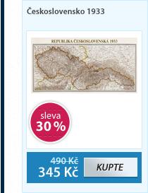 Československo 1933 - nástěnná mapa - 1:1 250 000