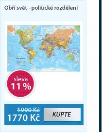 Svět -obří- politické rozdělení - 1:20 000 000 - nástěnná mapa /ZES/