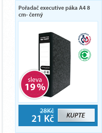 CZECH OFFICE Pořadač A4 8 cm Executive pákový, mramor - černý