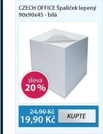 CZECH OFFICE Špalíček lepený 90x90x45 - bílá