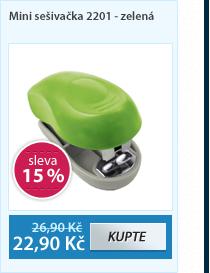 EASY Mini sešivačka 2201 - zelená