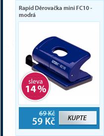 Rapid Děrovačka mini FC10 - modrá