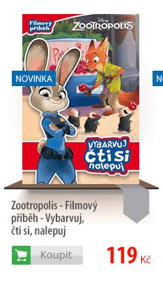 Zootropolis - Filmový příběh - Vybarvuj, čti si, nalepuj
