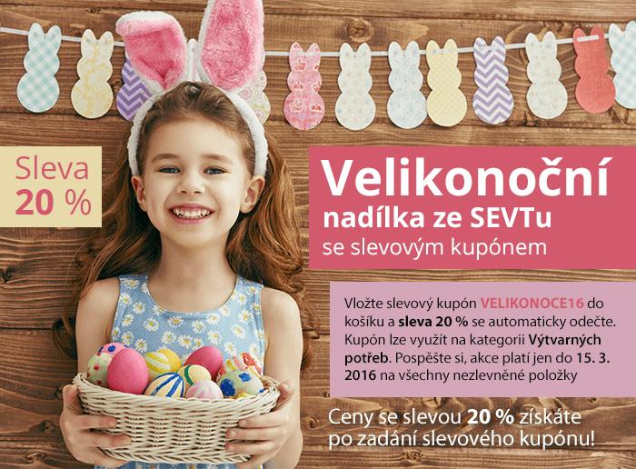 Velikonoční nabídka na SEVTu se slevovým kuponem