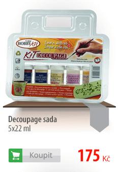 Decoupage sada - 5x22 ml