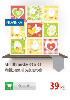 Stil Ubrousky 33 x 33 - Velikonoční patchwork