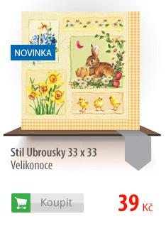 Stil Ubrousky 33 x 33 - Velikonoce