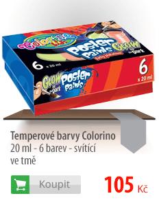 Temperové barvy Colorino 20 ml - 6 barev - svítící ve tmě
