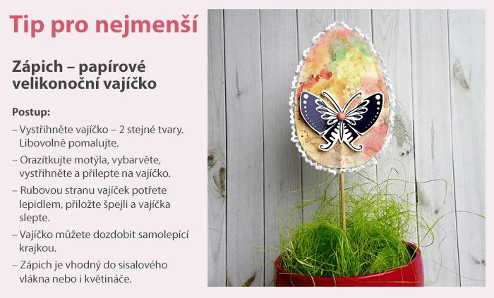 Zápich - papírové velikonoční vajíčko