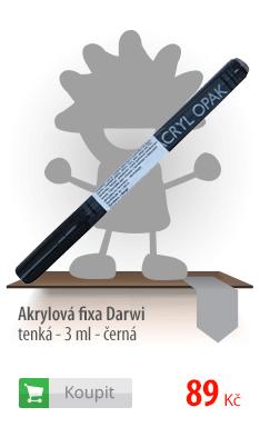 Akrylová fixa Darwi - tenká - 3 ml - černá