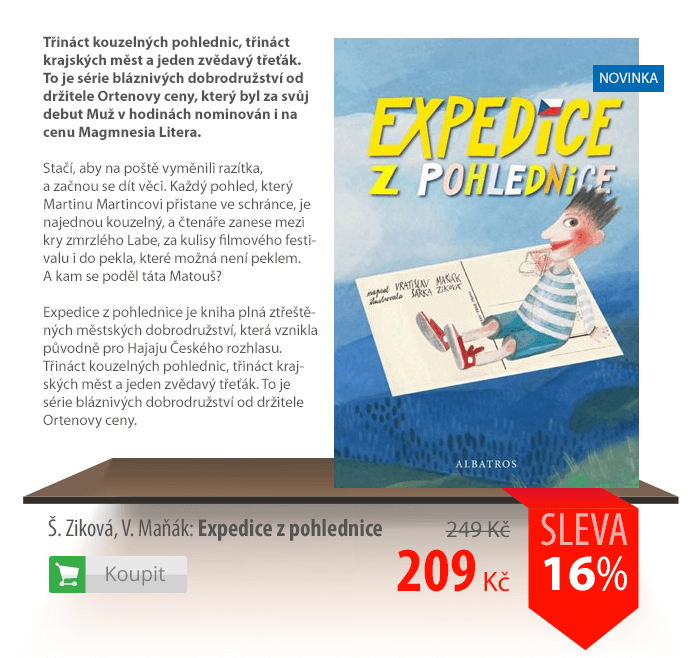 Expedice z pohlednice kniha
