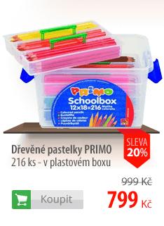 Dřevěné pastelky Primo v boxu