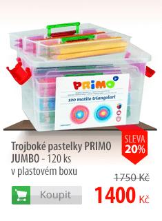 Trojboké pastelky Primo Jumbo v boxu