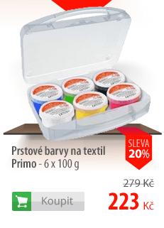 Prstové barvy na textil Primo