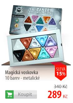 Magické voskovky metalické sada