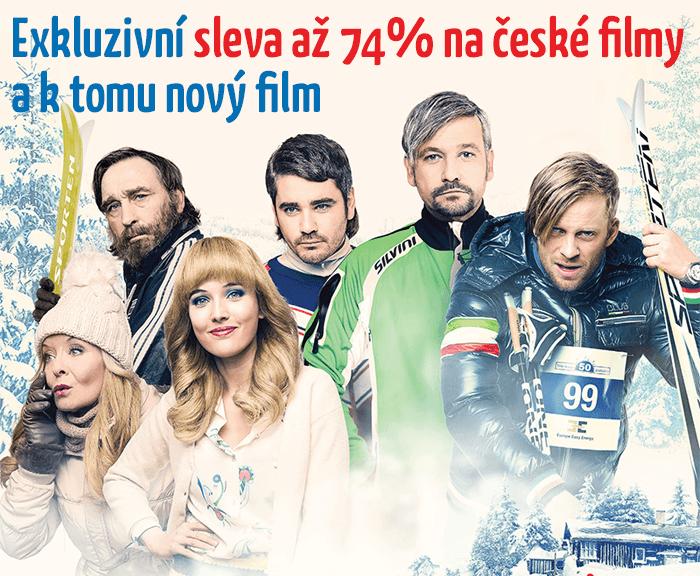 Exkluzivní sleva až 74% na české filmy a k tomu nový film jako dárek