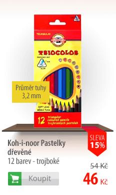 Koh-i-nor pastelky dřevěné