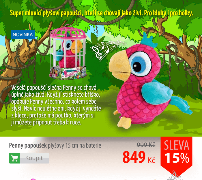 Penny papoušek plyšový