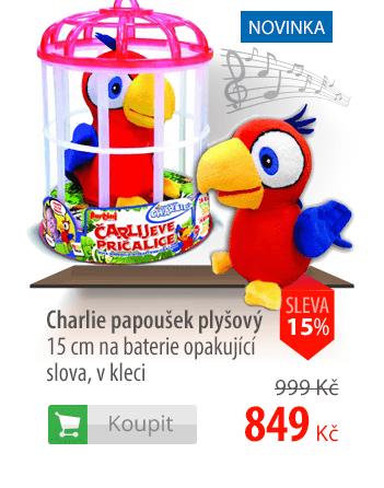Charlie papoušek plyšový
