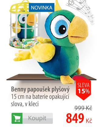 Benny papoušek plyšový