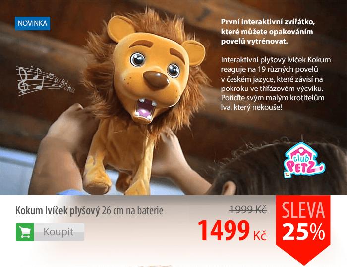 Kokum lvíček plyšový na baterie