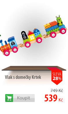 Vlak s domečky Krtek