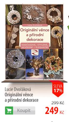 Originální věnce a přírodní dekorace kniha