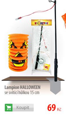 Lampion Halloween se svítící hůlkou
