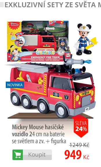 Mickey Mouse hasičské vozidlo 24cm+figurka