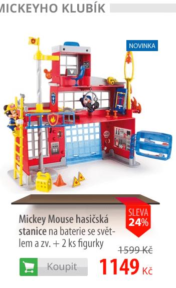 Mickey Mouse hasičská stanice + 2 figurky