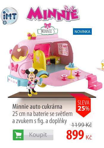 Minnie auto cukrárna 25cm+figurka
