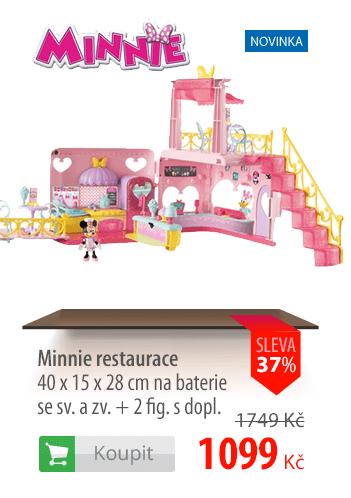 Minnie restaurace + 2 figurky