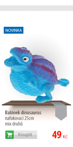 Balónek dinosaurus nafukovací 25cm