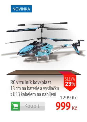 RC vrtulník kov/plast 18cm