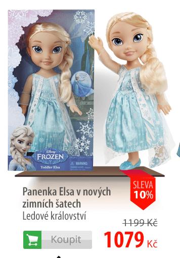 Panenka Elsa v zimních šatech