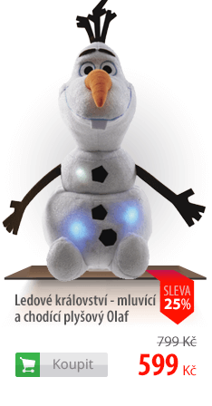 Mluvící a chodící plyšový Olaf