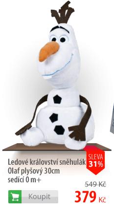 Sněhulák Olaf plyšový