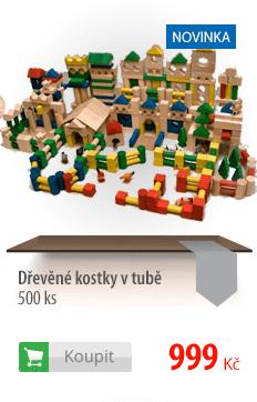 Dřevěné kostky v tubě