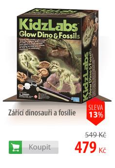 Zářící dinosauři a fosílie