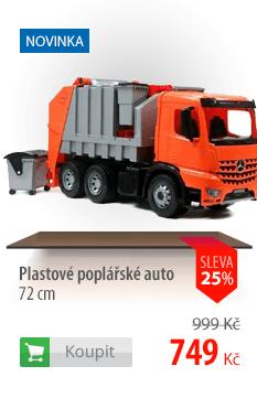 Plastové popelářské auto