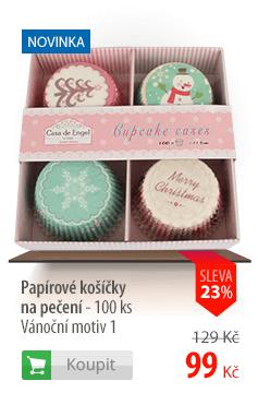 Papírové košíčky na pečení Vánoční motiv 100ks
