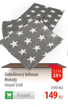 Gobelínový běhoun Hvězdy tmavě šedé