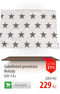 Gobelínový prostírání Hvězdy bílé 4 ks