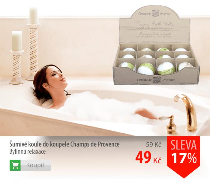 Šumivé koule do koupele Champs de Provence