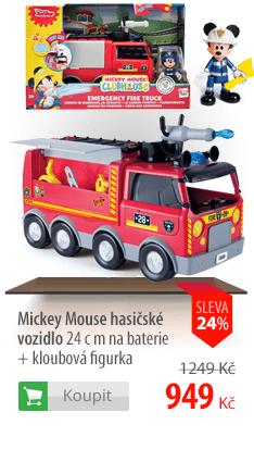 Mickey Mouse hasičské vozidlo 24 cm na baterie + kloubová figurka