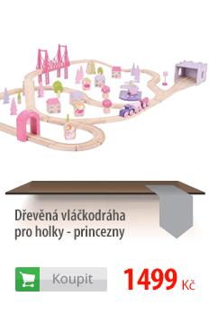 Dřevěná vláčkodráha pro holky - princezny