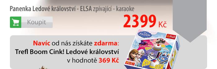 Panenka Ledové království Elsa zpívající - karaoke