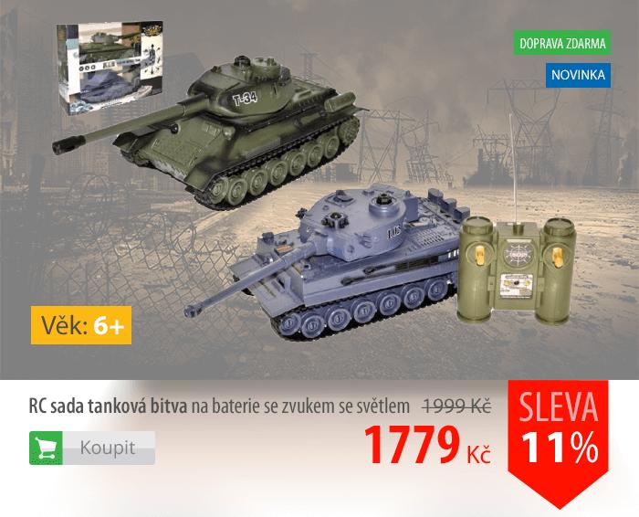 RC sada tanková bitva na baterie se zvukem a světlem