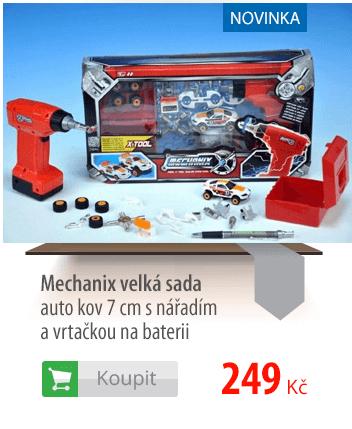 Mechanix velká sada auto kov 7cm
