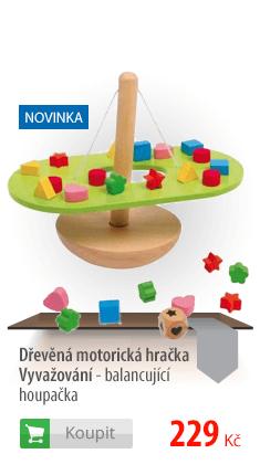 Dřevěná motorická hračka Vyvažování - balancující houpačka